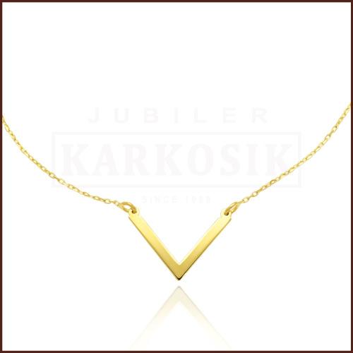 Złoty Naszyjnik Celebrytka - V pr.585