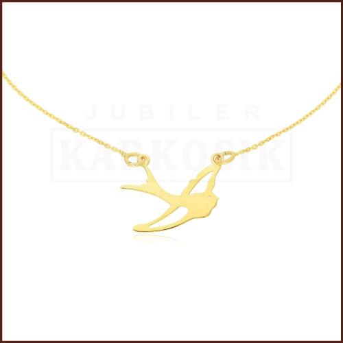 Złoty Naszyjnik Celebrytka - Jaskółka pr.585