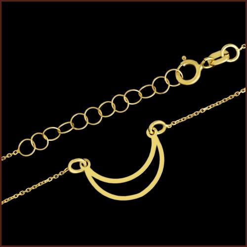 Złoty Naszyjnik Celebrytka - Półksiężyc pr.585