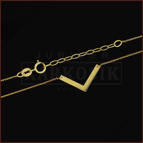 Złoty Naszyjnik Celebrytka - V pr.333