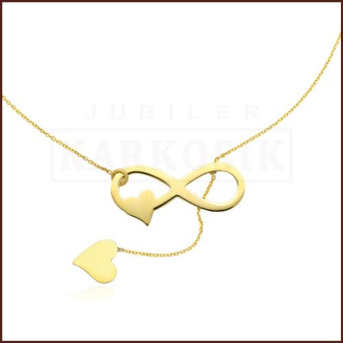 Złoty Naszyjnik Celebrytka - Nieskończona Miłość pr.333