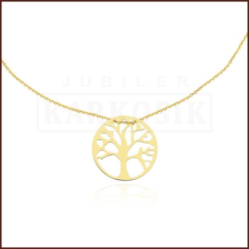 Złoty Naszyjnik Celebrytka - Drzewko Szczęścia pr.333