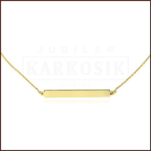 Złoty Naszyjnik Celebrytka - Blaszka pr.333