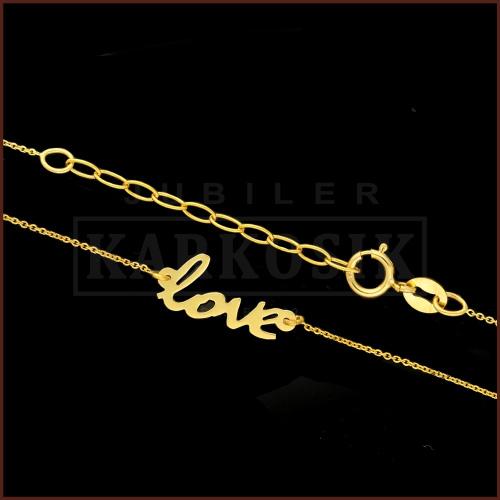 Złoty Naszyjnik Celebrytka - Love pr.333