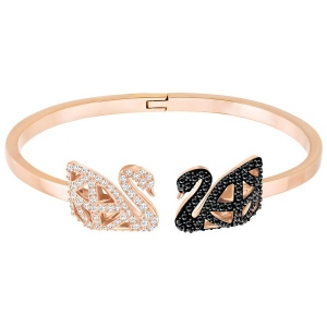 Bransoletka SWAROVSKI -Facet Swan Bangle, Multi-colored, Mixed Plating 5372919