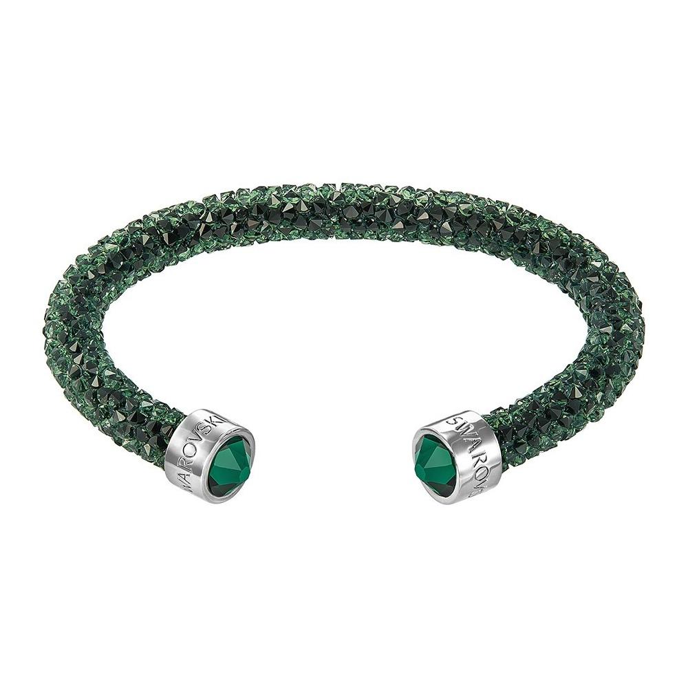 Bransoletka SWAROVSKI - Crystaldust Cuff, Green 5255908