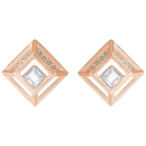 Kolczyki SWAROVSKI -Hillock Square Pierced Earrings 5351077
