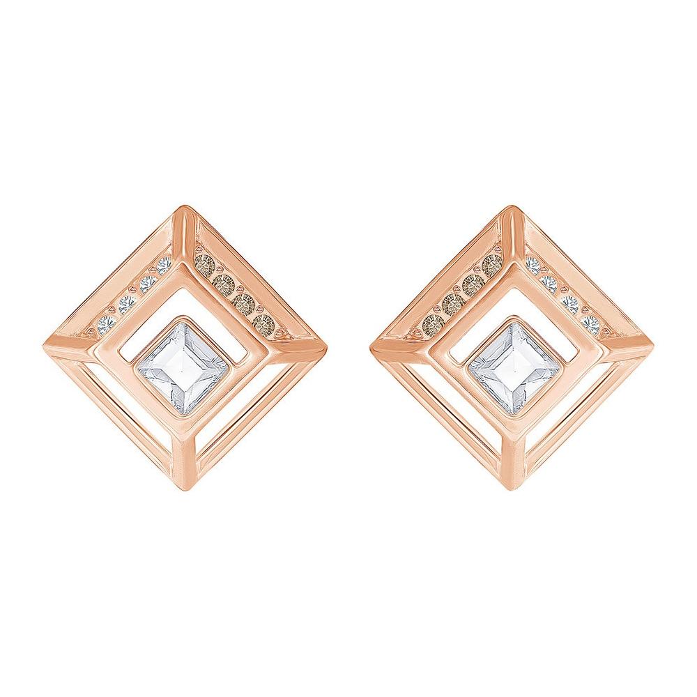 Kolczyki SWAROVSKI -Hillock Square Pierced Earrings 5351077