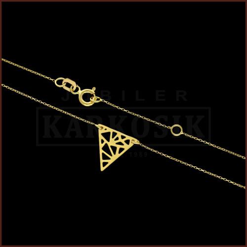 Złoty Naszyjnik Celebrytka - Trójkąt Origami pr.585