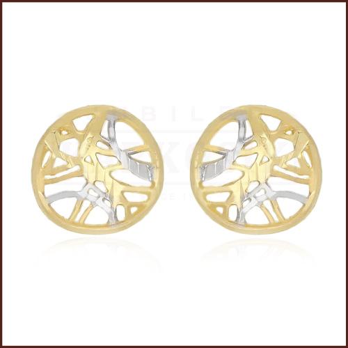 Złote kolczyki - Ażurowe Kółeczka pr.585