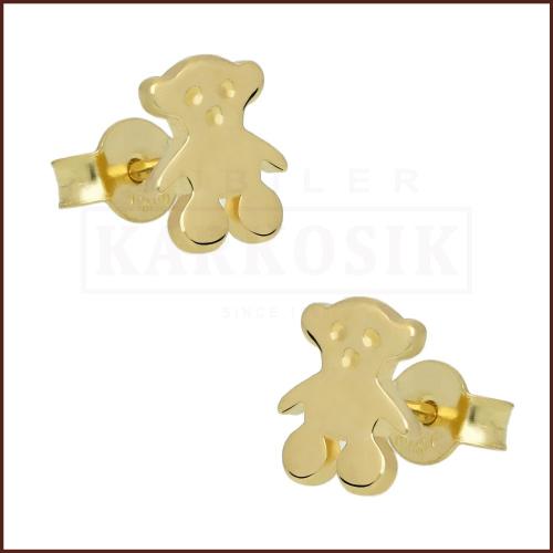 Złote kolczyki - Misie pr.585