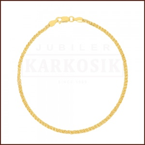 Złota Bransoletka Lisi Ogon 19cm pr.585