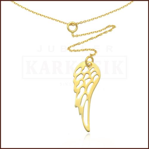 Złoty Naszyjnik Celebrytka - Skrzydełko pr.585