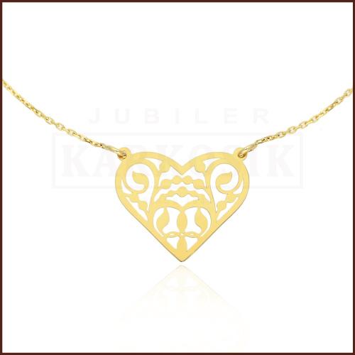 Złoty Naszyjnik Celebrytka - Serduszko pr.585