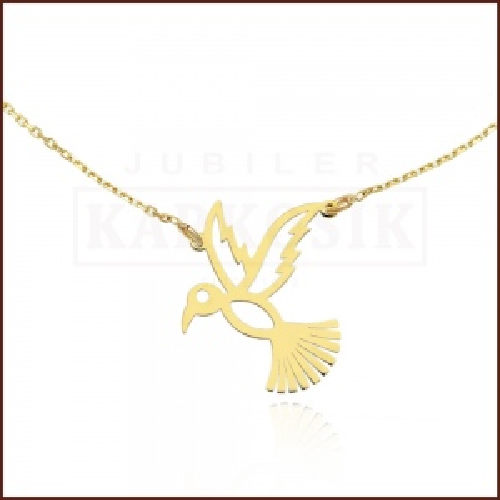 Złoty Naszyjnik Celebrytka - Koliber pr.585