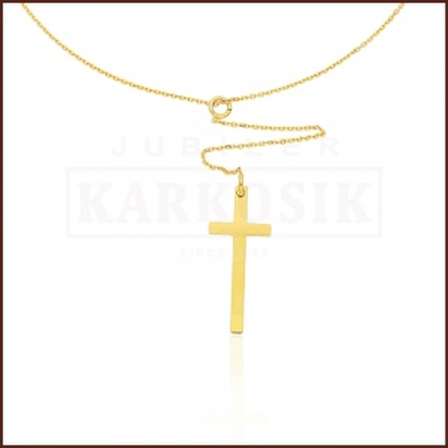 Złoty Naszyjnik Celebrytka - Wiszący Krzyżyk pr.585