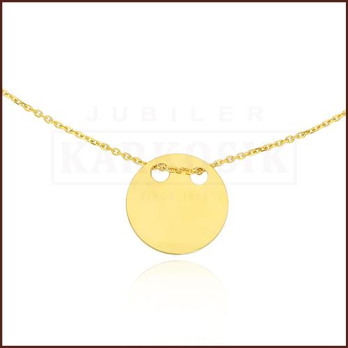 Złoty Naszyjnik Celebrytka - Kółeczko pr.585