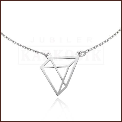 Srebrny Naszyjnik Celebrytka Origami - Trójkąt pr.925