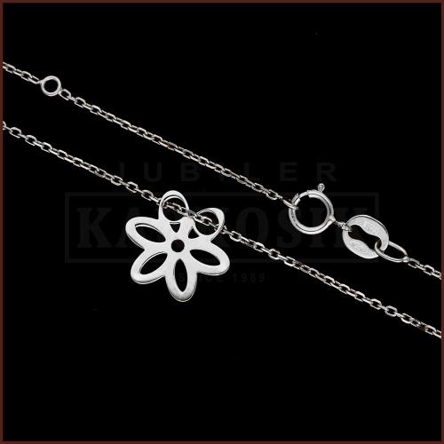 Srebrny Naszyjnik Celebrytka - Kwiatek i Motylek pr.925