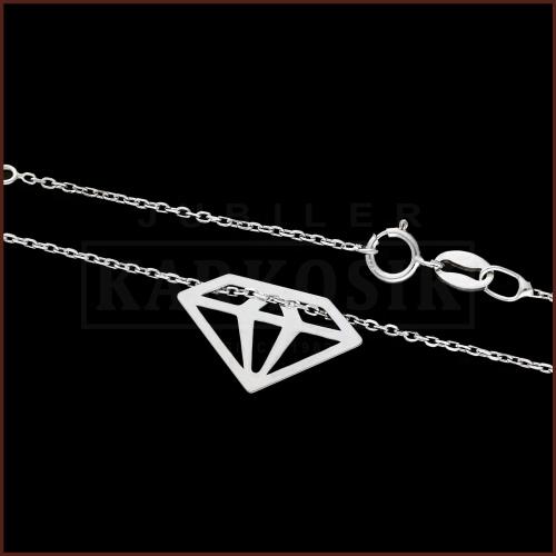 Srebrny Naszyjnik Celebrytka - Diament pr.925