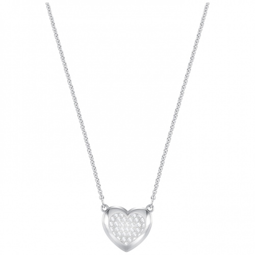 Naszyjnik SWAROVSKI - Hall Heart Rhodium Plating 5385009