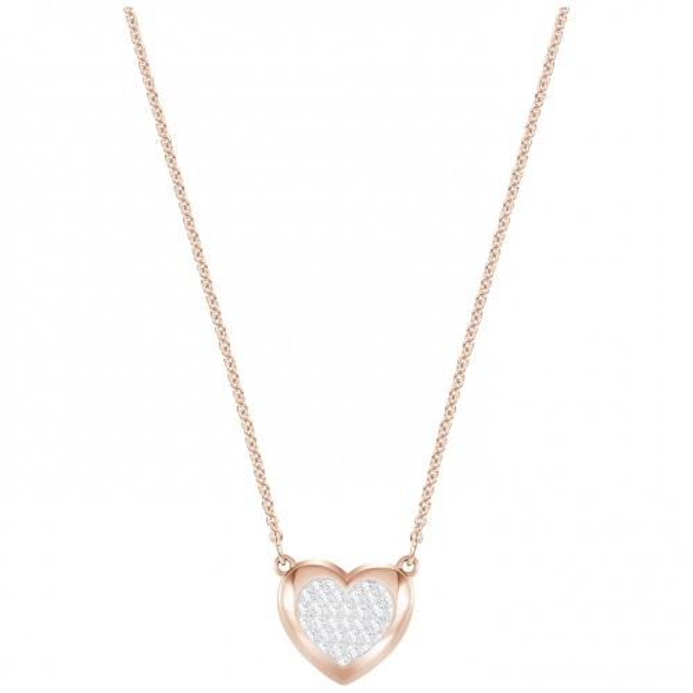 Naszyjnik SWAROVSKI - Hall Heart Rose Gold 5407949