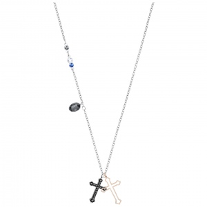 Naszyjnik SWAROVSKI -  Duo Mini Cross, Multi-colored, Mixed plating 5396881