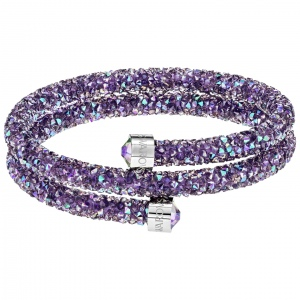 Bransoletka SWAROVSKI - Crystaldust Double Bangle, Purple 5385843 M