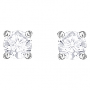 Kolczyki SWAROVSKI - Attract Round, Rhodium plating  5408436