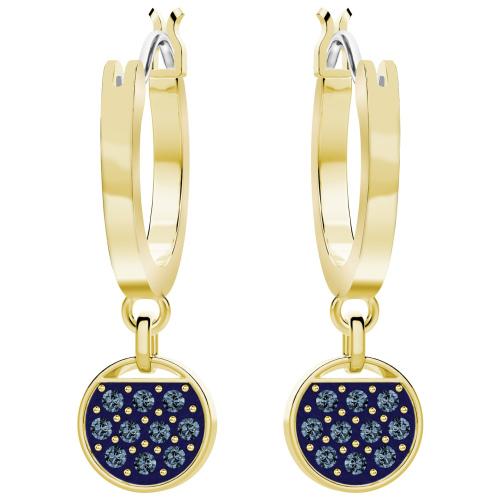 Kolczyki SWAROVSKI - Ginger Mini Hoop, Blue, Gold 5392915