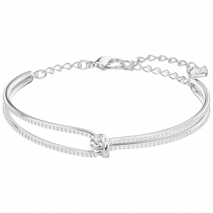 Bransoletka SWAROVSKI - Lifelong Bangle, Rhodium plating 5368552