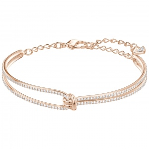 Bransoletka SWAROVSKI - Ginger Bangle, Gray, Rose Gold 5390818