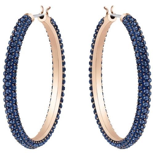 Kolczyki SWAROVSKI - Stone Hoop, Blue, Rose gold 5408459