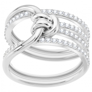 Pierścionek SWAROVSKI - Lifelong Wide, White 5392183 55