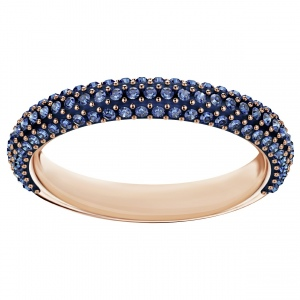 Pierścionek SWAROVSKI - Stone Mini Ring, Blue. Rose gold 5387572 55