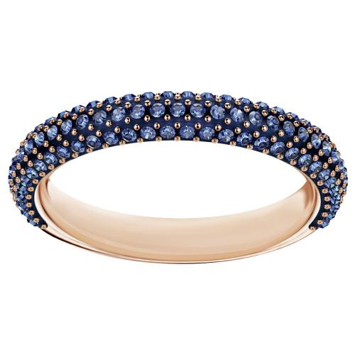 Pierścionek SWAROVSKI - Stone Mini Ring, Blue. Rose gold 5387572 55