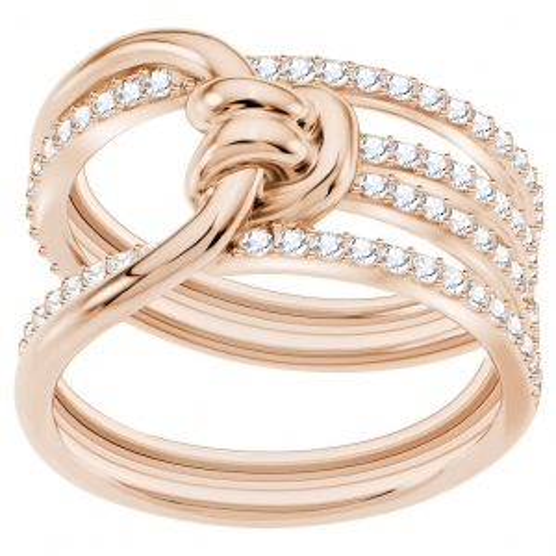 Pierścionek SWAROVSKI - Lifelong Wide, White, Rose gold 5369797 55