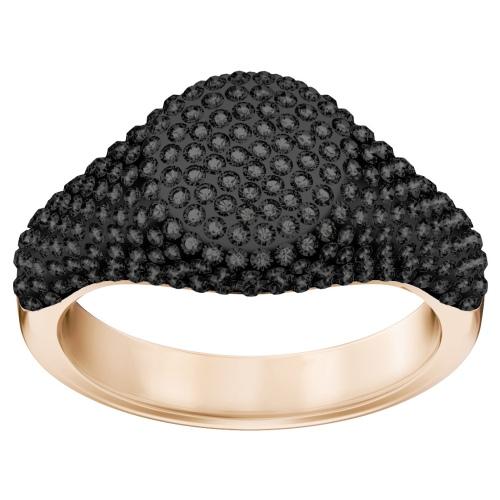 Pierścionek SWAROVSKI - Stone Signet, Black, Rose gold 5412010 52