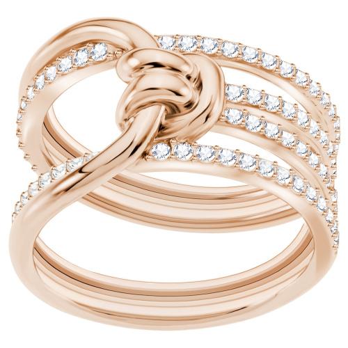 Pierścionek SWAROVSKI - Lifelong Wide, White, Rose gold 5402432 52