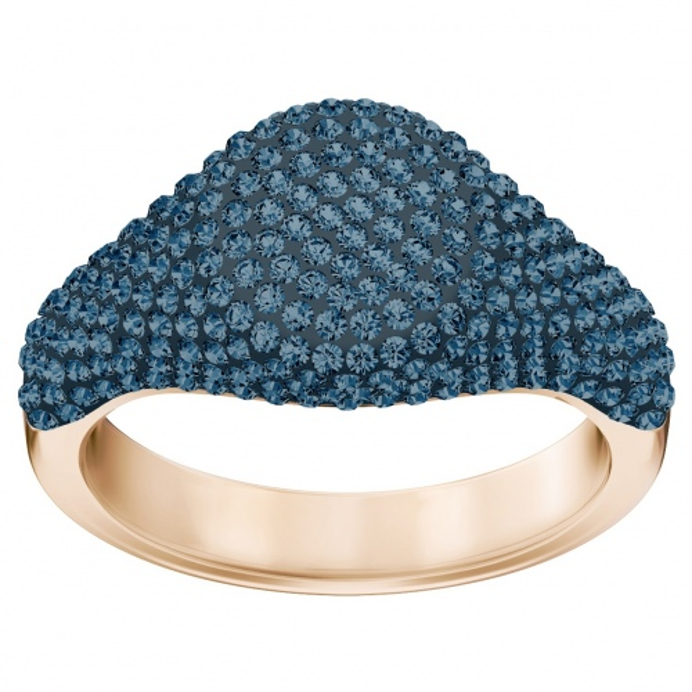 Pierścionek SWAROVSKI - Stone Signet, Blue, Rose gold 5412042 52
