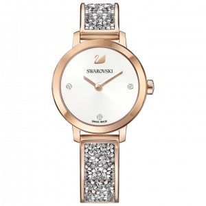Zegarek Swarovski Cosmic Rock Watch, Metal bracelet, White, Rose gold tone 5376092