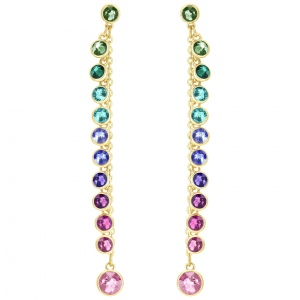 Kolczyki SWAROVSKI - Attract Pierced, Multi-colored, Gold 5402030
