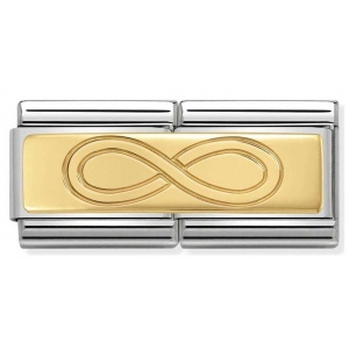 Nomination - Double Link 18K Gold 'Nieskończoność' 030710/07