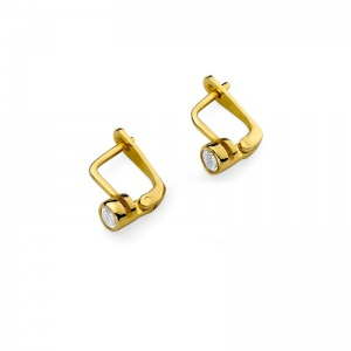 Złote kolczyki 585 z brylantami 0,30CT