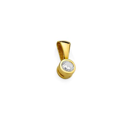 Złota zawieszka 585 z brylantem 0,20CT