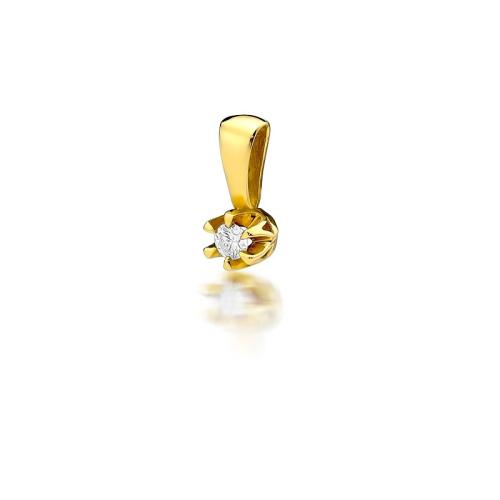 Złota zawieszka 585 z brylantem 0,08CT