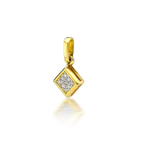 Złota zawieszka 585 z brylantem 0,045CT