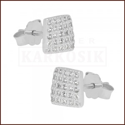 Srebrne kolczyki z cyrkoniami pr.925