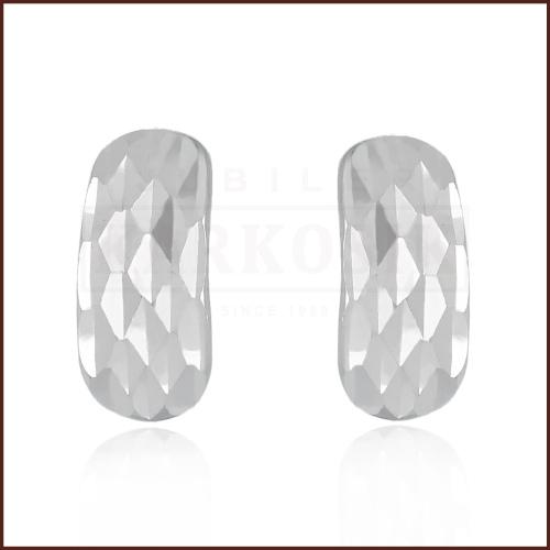 Srebrne kolczyki - Diamentowane przecinki pr.925
