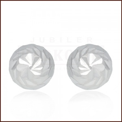 Srebrne kolczyki - Diamentowane Półkule pr.925